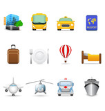 Fototapety Travel and transportation icons