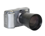 Two mega-pixel digital camera lens. Includes clipping path. poster