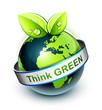 concept planète terre écologie - think green -