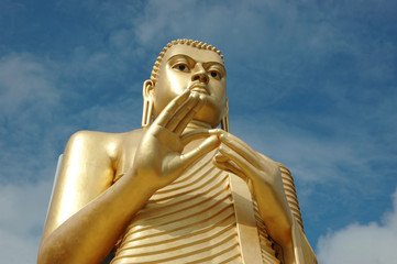 Golden Buddha at Dambulla,Sri Lanka