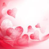 openwork red heart poster