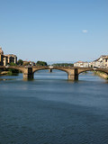 Florence - the Arno river seen from Ponte Vecchio poster