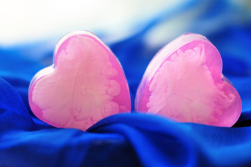 Heart shaped handmade soap