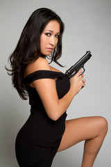 Asian Gun Woman