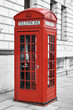 Red telephone booth in London, England