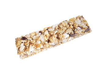 granola bar isolated on white background