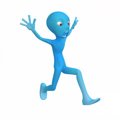 Blue Figure, Panic