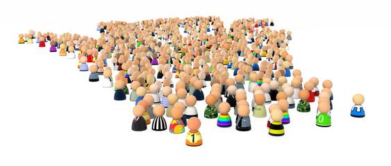 Cartoon Crowd, Many