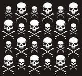 crossbones and skull pattern poster