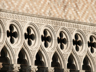 Venice - tracery from the Doge's Palace, one of venice symbol