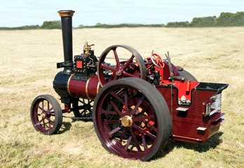 Smartly painted old-fashioned steam engine