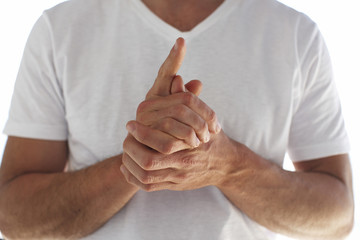 Young male's hands