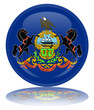 Pennsylvania Flag Round Button (Pennsylvanian Vector Reflection)