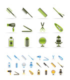 Fototapety hairdressing, coiffure and make-up icons - vector Icon Set
