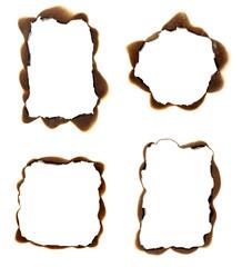 burn paper frame background