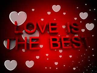 Love Is The Best With Hearts