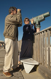 Skywatching and Birdwatching on the Seaside Fishing Pier poster