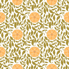 Seamless Floral Pattern Pink and Green