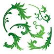 vector set of floral design elements
