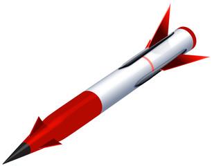 ミサイル 赤色 斜め