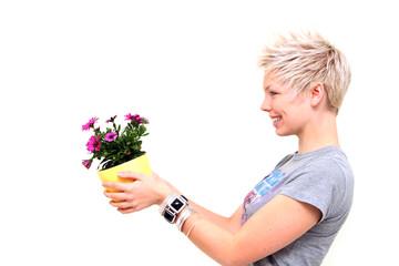Blumen schenken