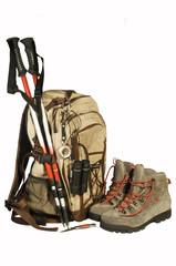equipaggiamento per escursione in montagna