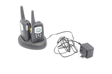 Two walkie talkies