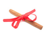 Cigar tied with a ribbon.