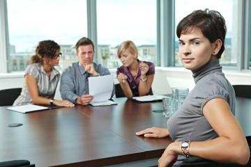 Applicant at job interview