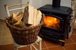 Logs in front of a stove - 20003568