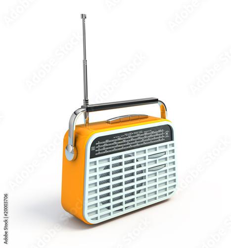 Leinwandbild Motiv Retro radio