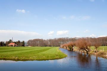 Dutch landscape in spring