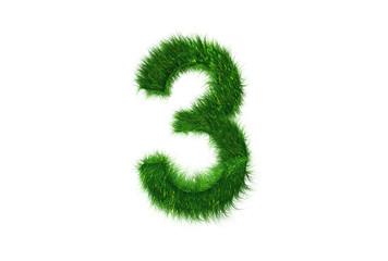 Grüne Nummer 3