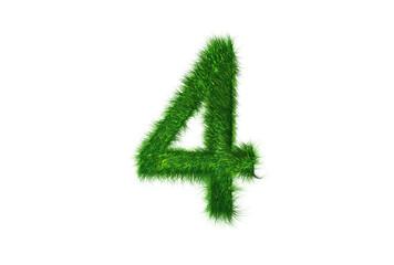 Grüne Nummer 4