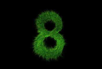 Grüne Nummer 8
