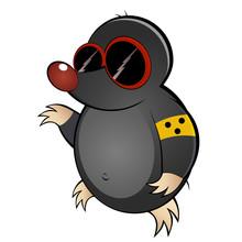 Mole ślepa kreskówka śmieszne