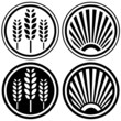 Healthy food and agriculture symbols or design icons
