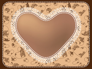 Decorative framework from hearts