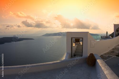 Leinwandbild Motiv Santorini's view