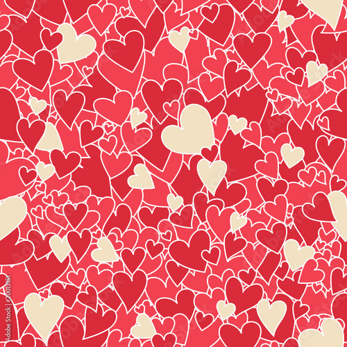 Seamless Valentine heart pattern