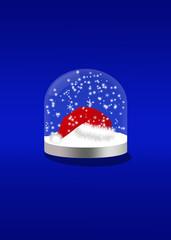 Schneekugel mit Mütze