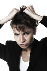 jeune femme d'affaires stress problème