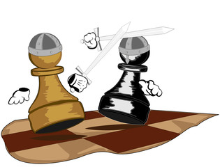 pawns with swords