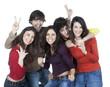 groupe de jeunes volontaire