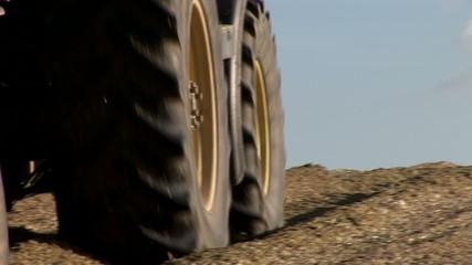 Traktor bei Maisernte