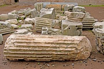 Ruin debris in Rome, Italy