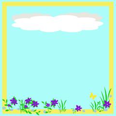 spring scrapbook frame
