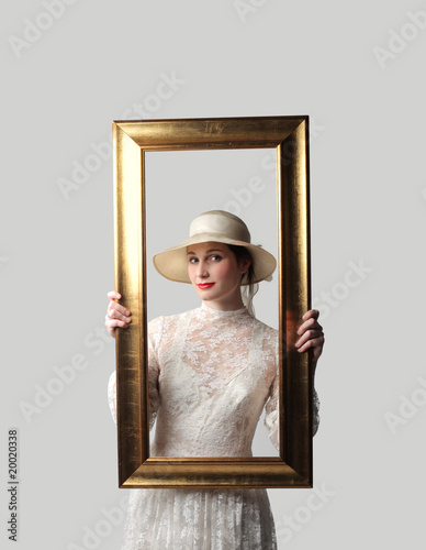 Woman framed