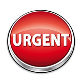 Urgent red button poster
