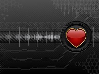 Futuristic love background